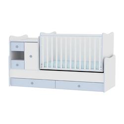 Κρεβάτι Minimax Μετατρεπόμενο Πολυμορφικό White/Blue Lorelli 10150500022A (ΔΩΡΟ στρώμα Top Exclusive Lorelli 60/120-13cm)