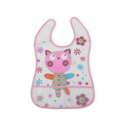 Σαλιάρα Βaby Bib Happy Meal Pink Cangaroo