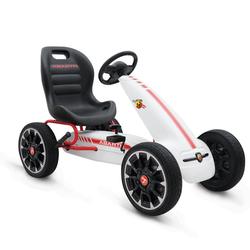 Παιδικό Αυτοκινητάκι Go Kart με πετάλια Eva Wheels Abarth 500 Assetto White Cangaroo 3800146242718