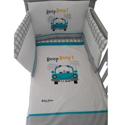 Προίκα Μωρού σετ 4 τμχ. (κουνουπιέρα-πάντα-πάπλωμα-παπλωματοθήκη) με τύπωμα Beep Beep Bebe Stars 3000