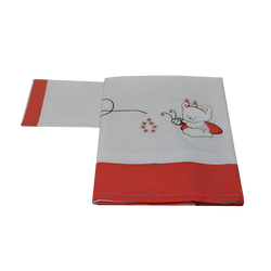 Σεντόνια σετ 3 τμχ. (κατωσέντονο-πανωσέντονο-μαξιλαροθήκη) με κέντημα Red Bee Bebe Stars 3031