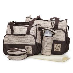 Σετ Βρεφική Τσάντα/Τσάντα Αλλαξιέρα/Θερμός Stella Brown Cangaroo 3800146260231