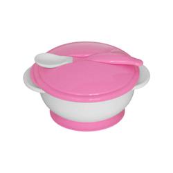Σετ Μπωλ Φαγητού Με Κουταλάκι Pink Lorelli 1023040