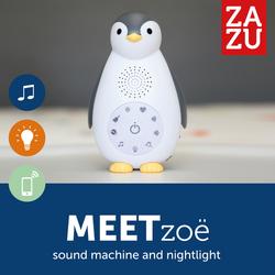 Πιγκουίνος με Ασύρματο Ηχείο Bluetooth και Φως Νυκτός Zoe Grey Zazu ZA-ZOE-01