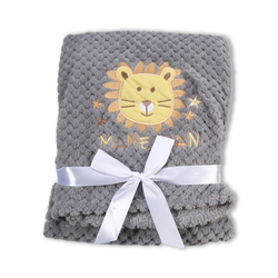 Κουβέρτα Fleece Αγκαλιάς 80x110cm Freya Grey Cangaroo 3800146263966