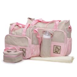Σετ Βρεφική Τσάντα/Τσάντα Αλλαξιέρα/Θερμός Stella Pink Moni 3800146261672
