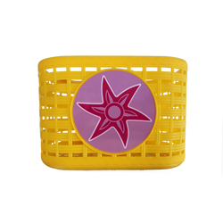 Διακοσμητικό καλάθι ποδηλάτου σε κίτρινο χρώμα της εταιρείας Elmo.